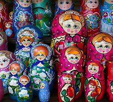 Colorful Russian Nesting Dolls Matreshka by Atanas Bozhikov