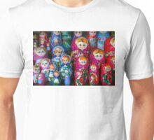 Colorful Russian Nesting Dolls Matreshka Unisex T-Shirt