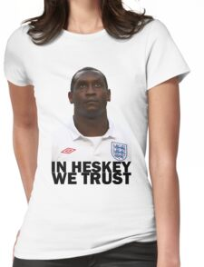 In HESKEY we trust - ENGLAND FOOTBALL Womens Fitted T-Shirt