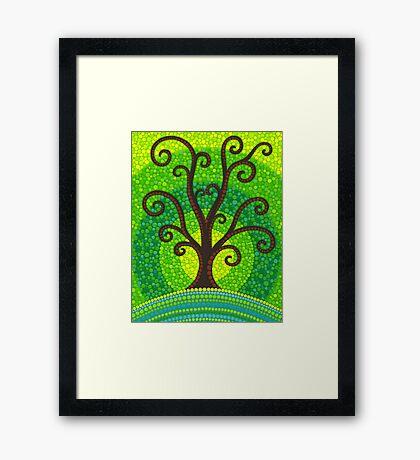 unfurling tree of lushiousness Framed Print
