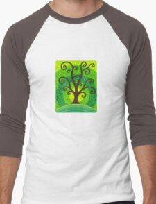 unfurling tree of lushiousness Men's Baseball ¾ T-Shirt