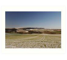 Sussex Snow Scene Art Print