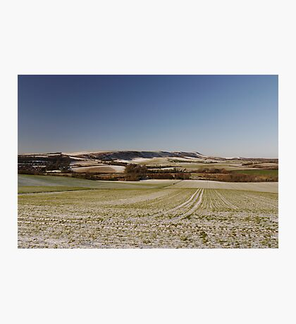 Sussex Snow Scene Photographic Print
