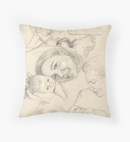 Birth of Zach Throw Pillow