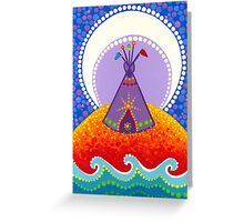 Tipi night time stories Greeting Card