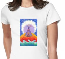 Tipi night time stories Womens Fitted T-Shirt