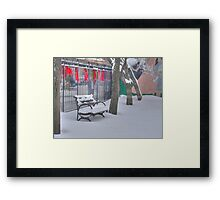 snowbench Framed Print