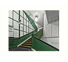 Putney Bridge Tube Station Art Print