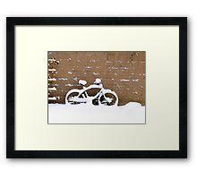 snowbike Framed Print