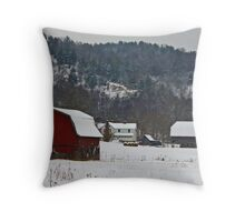 Barns in the Valley Throw Pillow