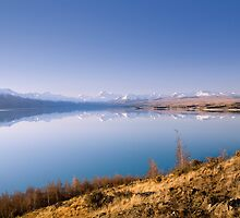 Perfect Reflection - Lake Pukaki, South Island, New Zealand by Leigh Voges