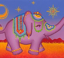 Celebration of the elephant in all her regality by Elspeth McLean