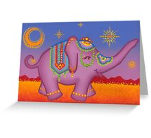 Celebration of the elephant in all her regality Greeting Card