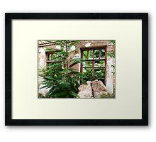 Abandoned house closeup Framed Print