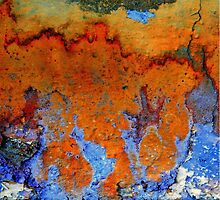 Rusty Blu Wall by appfoto