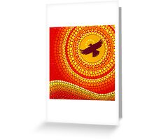sun illuminating eagle spirit medicine Greeting Card