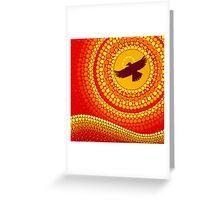 sun illuminating eagle spirit medicine Greeting Card