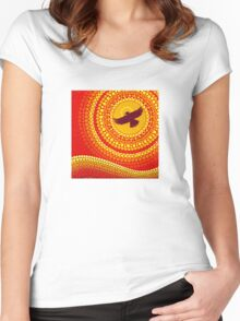 sun illuminating eagle spirit medicine Women's Fitted Scoop T-Shirt