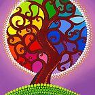 Rainbow Orb Tree of life by Elspeth McLean