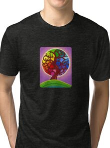Rainbow Orb Tree of life Tri-blend T-Shirt