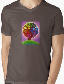 Rainbow Orb Tree of life Mens V-Neck T-Shirt