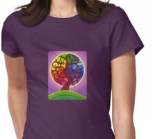 Rainbow Orb Tree of life Womens Fitted T-Shirt