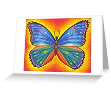rainbow vibrant butterfly Greeting Card
