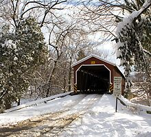 Pinetown Covered Bridge in Snow by Mark Van Scyoc