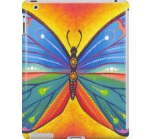 rainbow vibrant butterfly iPad Case/Skin