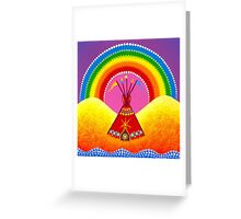 Home of unity, balance and inspiration Greeting Card