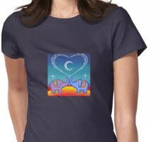 Elephant soul mates Womens Fitted T-Shirt