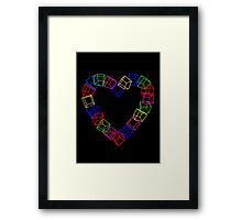My Cubical Romance Framed Print