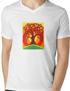 Autumn Illuminated Tree Mens V-Neck T-Shirt
