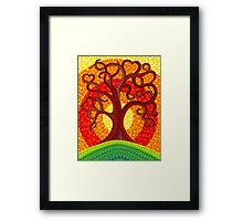 Autumn Illuminated Tree Framed Print