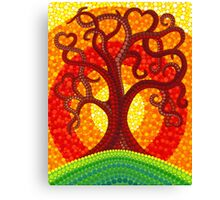Autumn Illuminated Tree Canvas Print