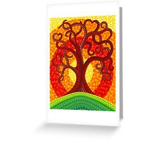 Autumn Illuminated Tree Greeting Card