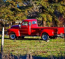 Stolen Red Pickup #1 by Bryan D. Spellman