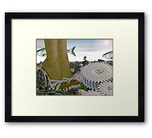 Technologies sprouting on toxic hillside  Framed Print