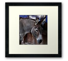 The Weight of the World. Framed Print