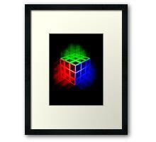 Glowing Rubix Cube Framed Print