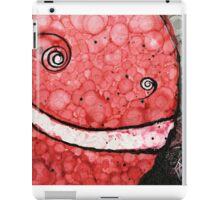 Red Grinning Smiley Face Emoji iPad Case/Skin