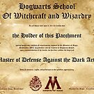Hogwarts Diploma Poster - Defense Against the Dark Arts OWL by eaaasytiger