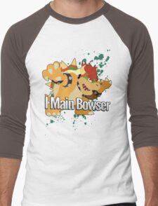 I Main Bowser - Super Smash Bros. Men's Baseball ¾ T-Shirt
