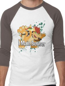 I Main Bowser - Super Smash Bros. Men's Baseball ¾ T-Shirt