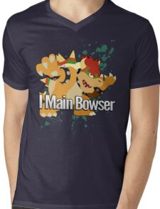 I Main Bowser - Super Smash Bros. Mens V-Neck T-Shirt