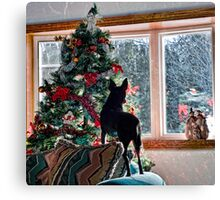 Waiting for Santa! Canvas Print