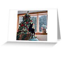 Waiting for Santa! Greeting Card
