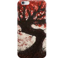 Red Heart Tree Painting iPhone Case/Skin