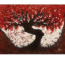 Red Heart Tree Painting Photographic Print