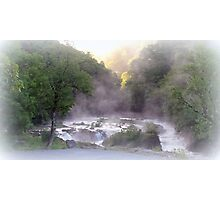 Misty Cenarth Waterfall Photographic Print